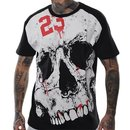 TRUE CRIME T-Shirt SKULL schwarz