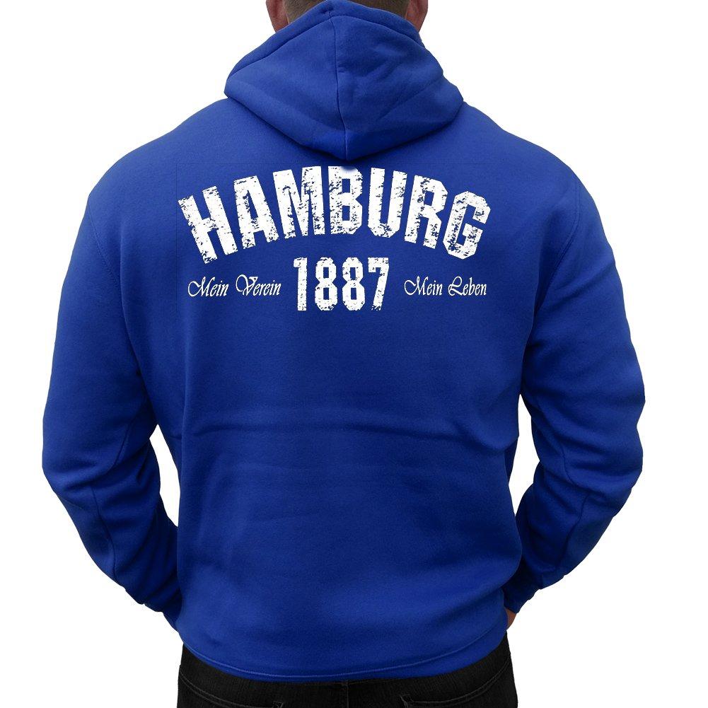 hoodie hamburg mein verein 1887 mein leben blau 42 00. Black Bedroom Furniture Sets. Home Design Ideas