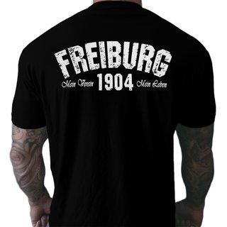 b86dcd50d9c6ea T-Shirt FREIBURG - Mein Verein 1904 Mein Leben schwarz ...